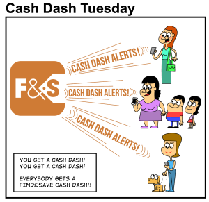 Cartoon - Cash Dash Tuesday