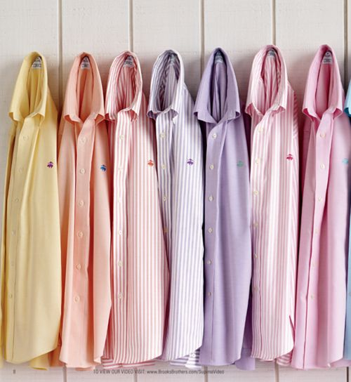 Brooks Brothers Pastel Sports Shirts