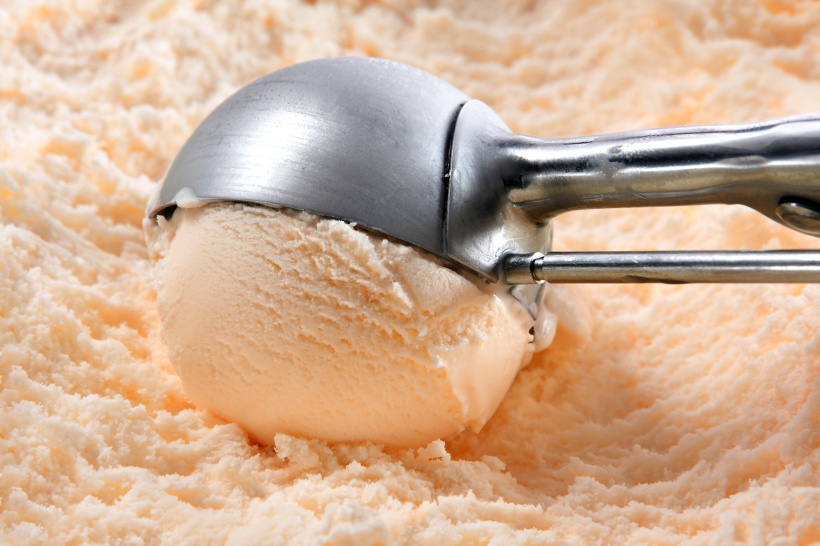 Orange or peach ice cream